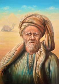 """Abdellah"", 2013, olio su tela"