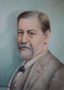 """""""Sigmund Freud"""", 2015, pastello"""