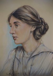 """Virginia Woolf"", 2015, pastello"