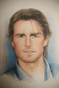 """Tom Cruise"", 2016, pastello"