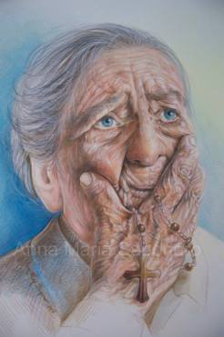 """""""L'anziana signora"""", Anna Maria Saponaro (personaggio di """"SIlenzi Messaggeri"""")"""