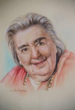 """""""Alda Merini"""", 2016, pastello"""