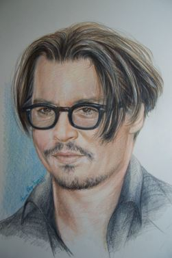 """Johnny Depp"", 2016, pastello"