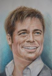 """Brad Pitt"", 2016, pastello"