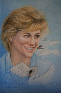 """Lady Diana"", 2015, pastello"