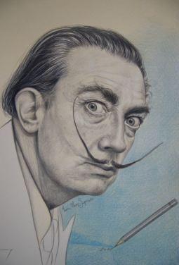 """Salvador Dalì"", 2016, pastello"