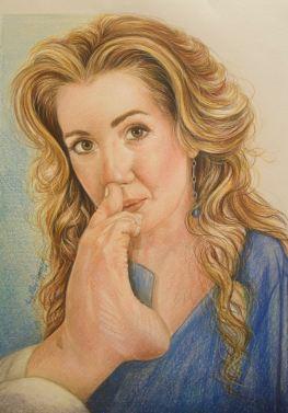 """""""Simona Atzori"""", 2016, pastello"""